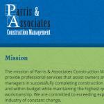 Parris & Associates Construction Management